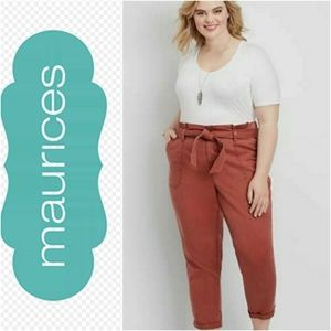 Maurices high rise utility pants size 14